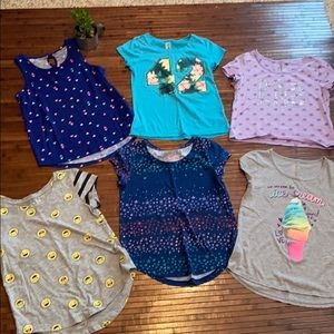 Lot of 6 Girls tops size 10